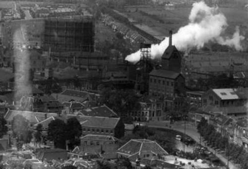 De gasfabriek in 1943