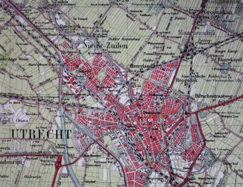 Stafkaart 1940 Utrecht