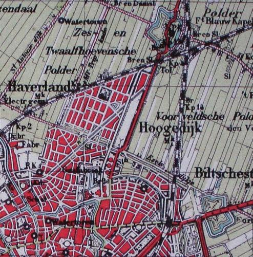 Stafkaart 1940 detail