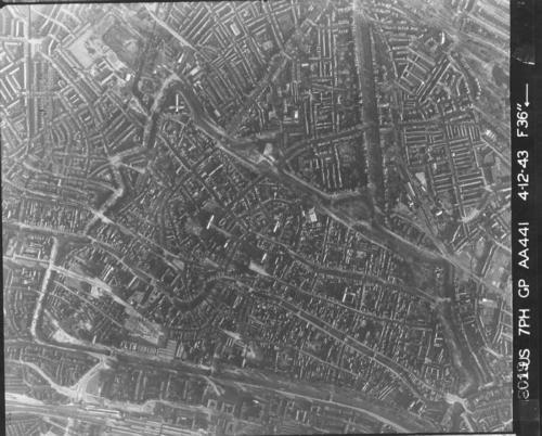 Luchtfoto 1943 centrum