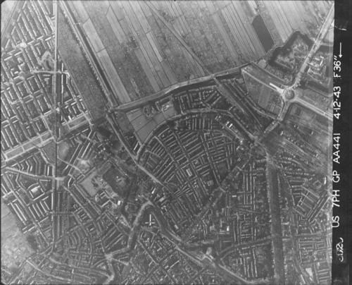 Luchtfoto 1943 Wittevrouwen